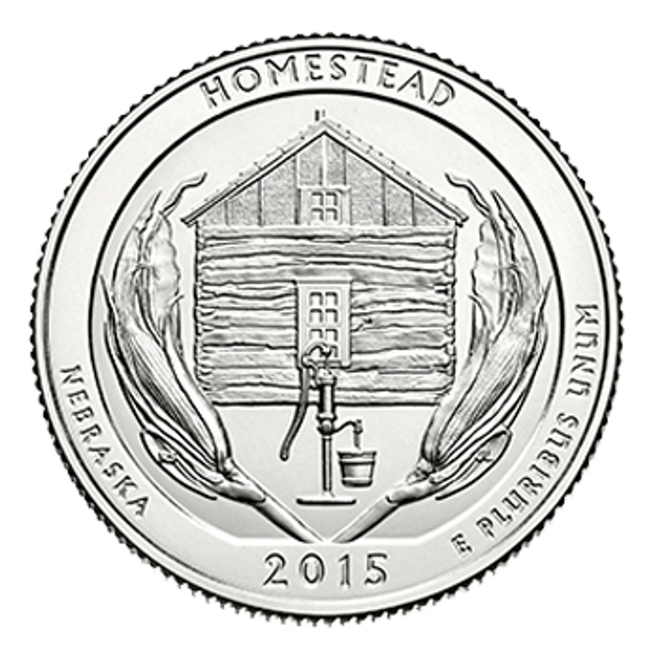 2015-D Homestead National Monument of America Quarter Brilliant Uncirculated Image 1