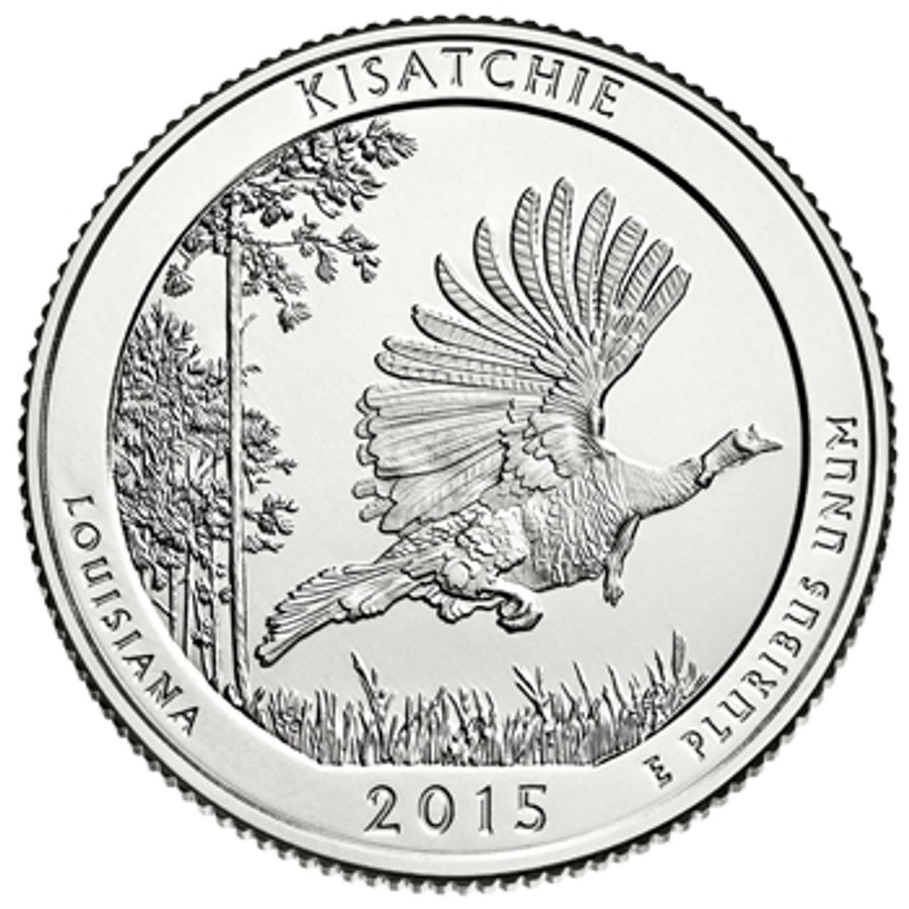 2015-P Kisatchie National Park Quarter Brilliant Uncirculated Image 1