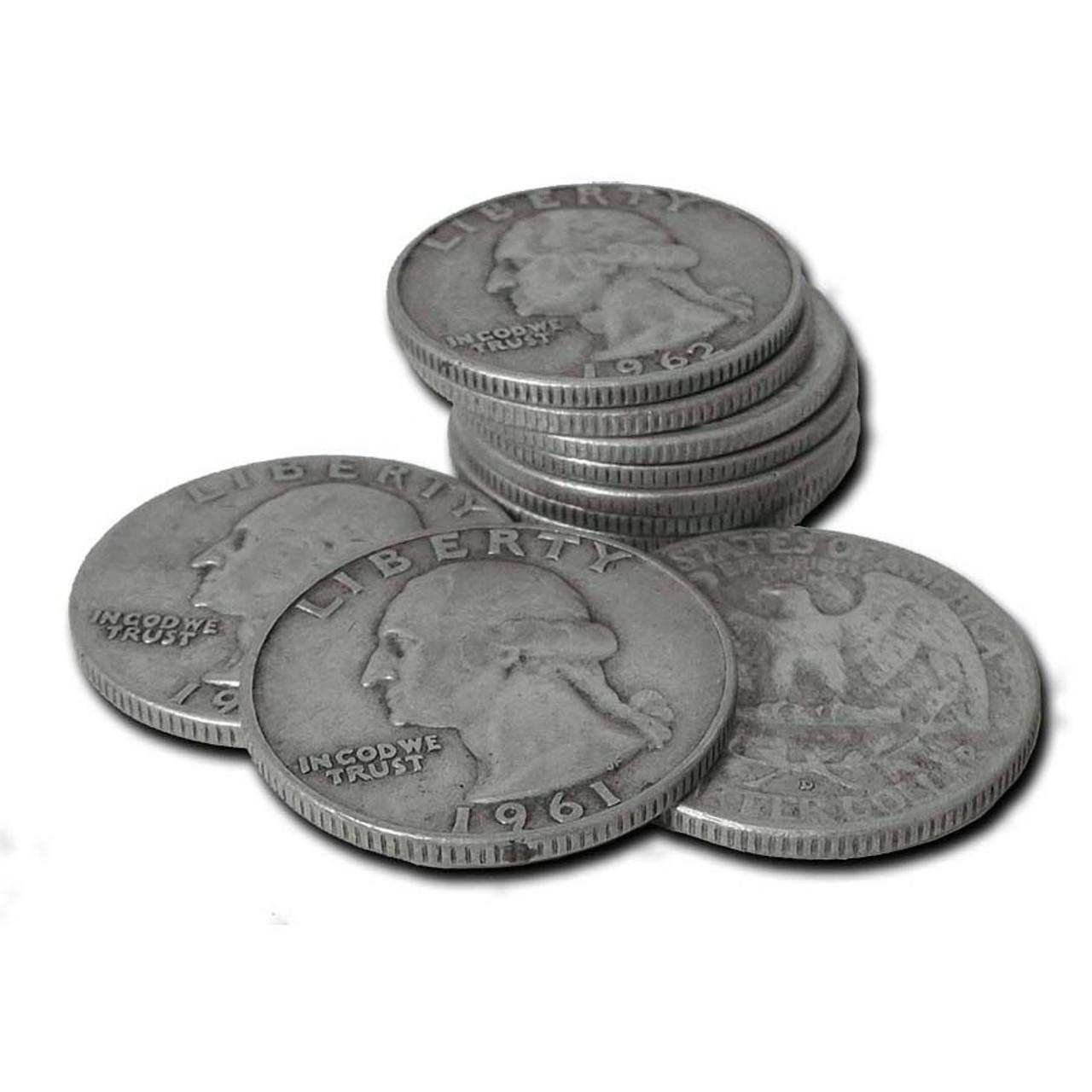 1932-1964 Washington Silver Quarters Set of 10 Different Good to Fine Image 1