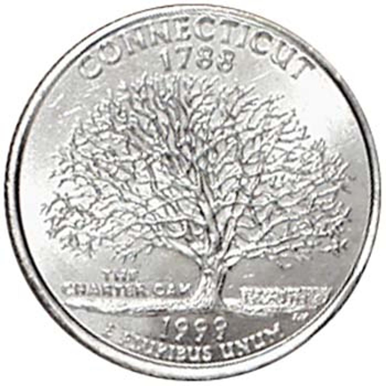 1999-D Connecticut Quarter Brilliant Uncirculated Image 1