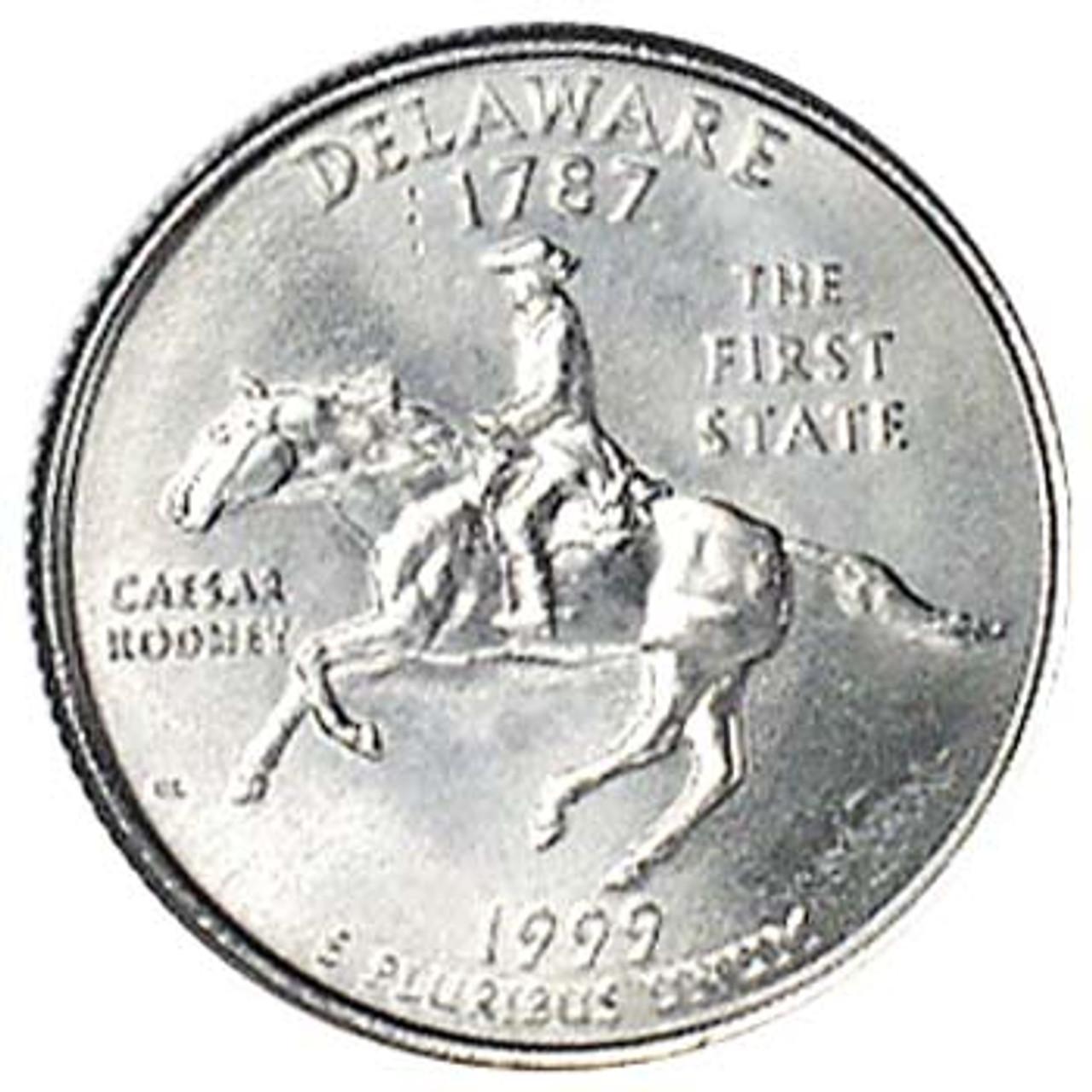 1999-P Delaware Quarter Brilliant Uncirculated Image 1