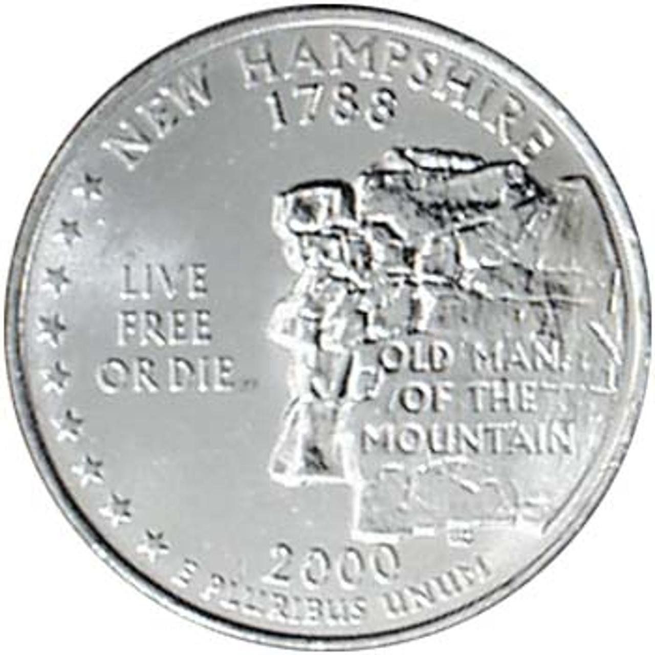 2000-D New Hampshire Quarter Brilliant Uncirculated Image 1