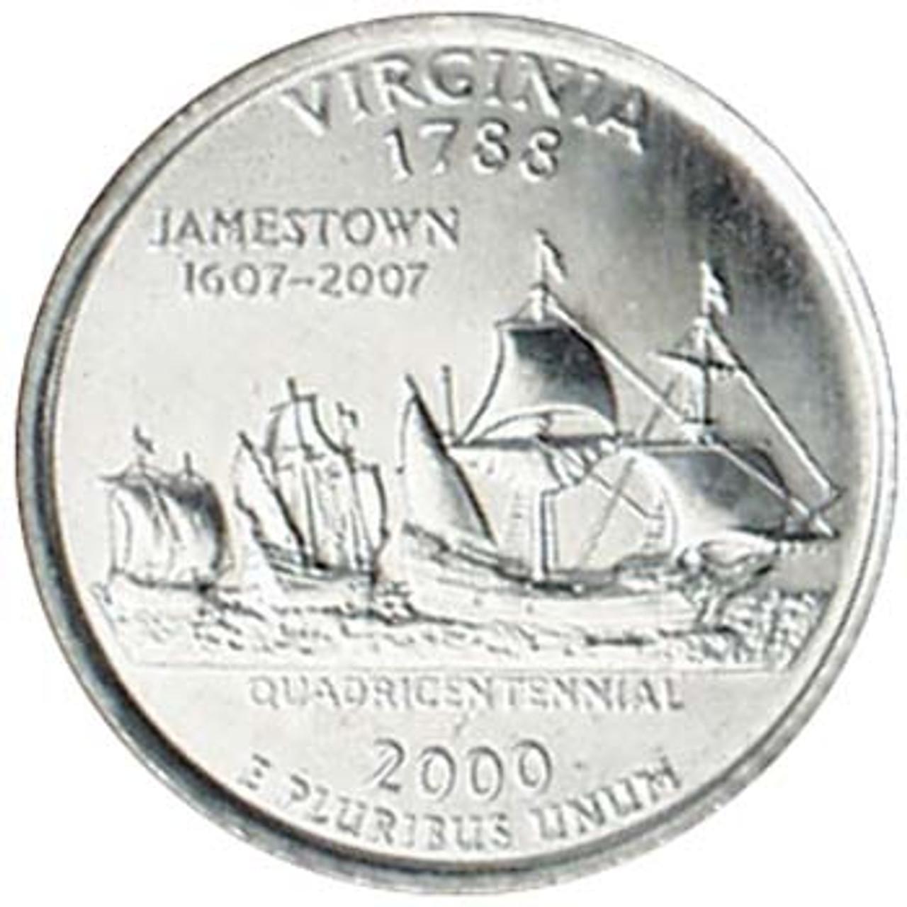 2000-D Virginia Quarter Brilliant Uncirculated Image 1