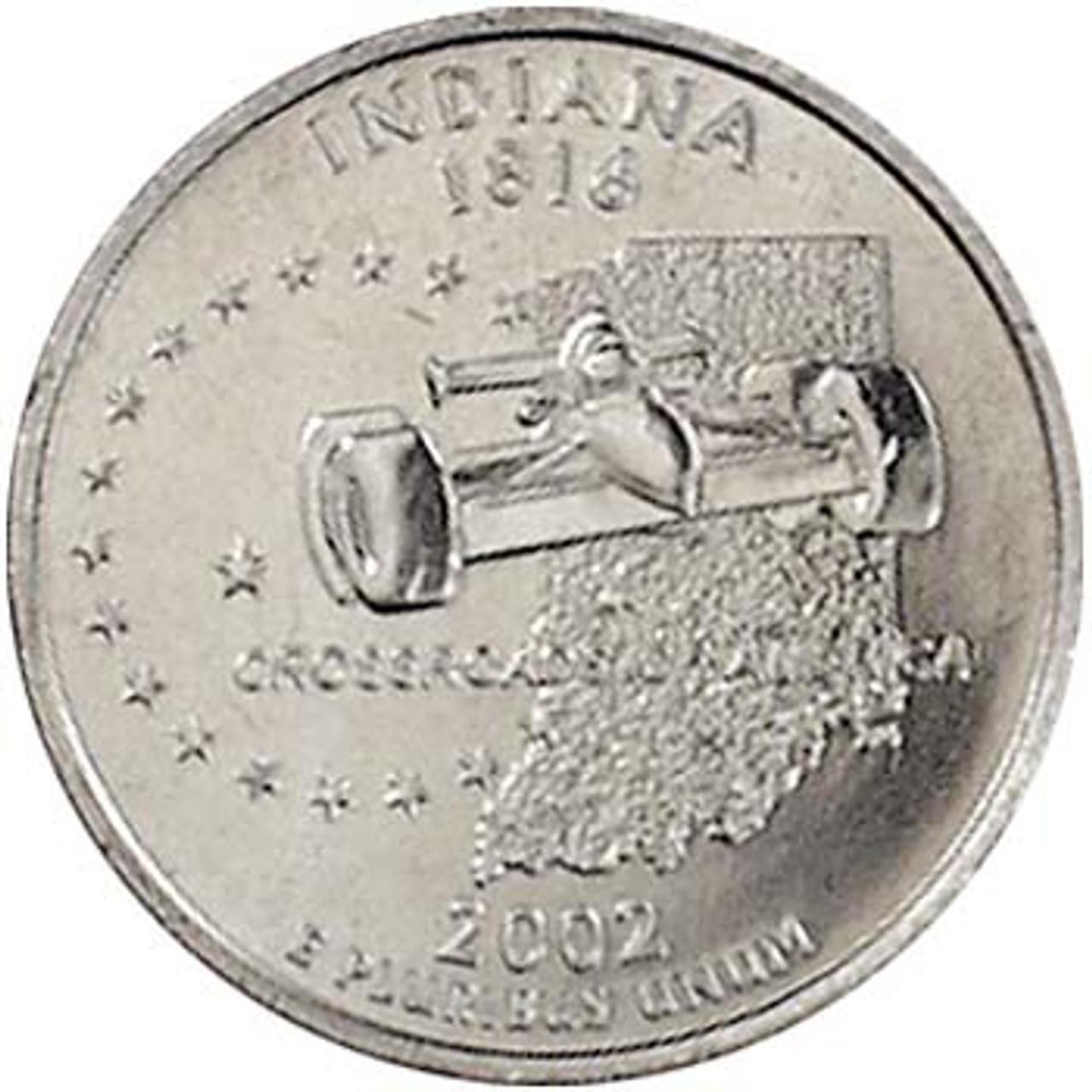 2002-D Indiana Quarter Brilliant Uncirculated Image 1