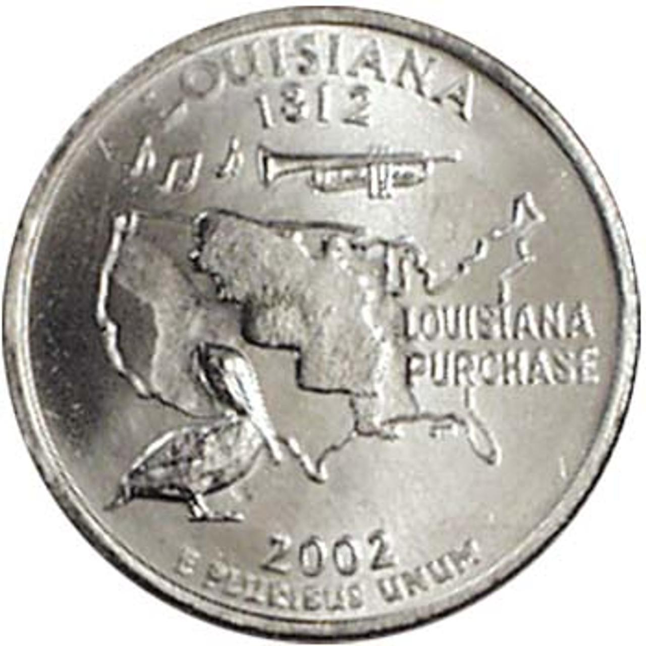 2002-P Louisiana Quarter Brilliant Uncirculated Image 1
