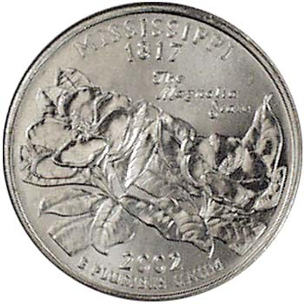 2002-P Mississippi Quarter Brilliant Uncirculated Image 1