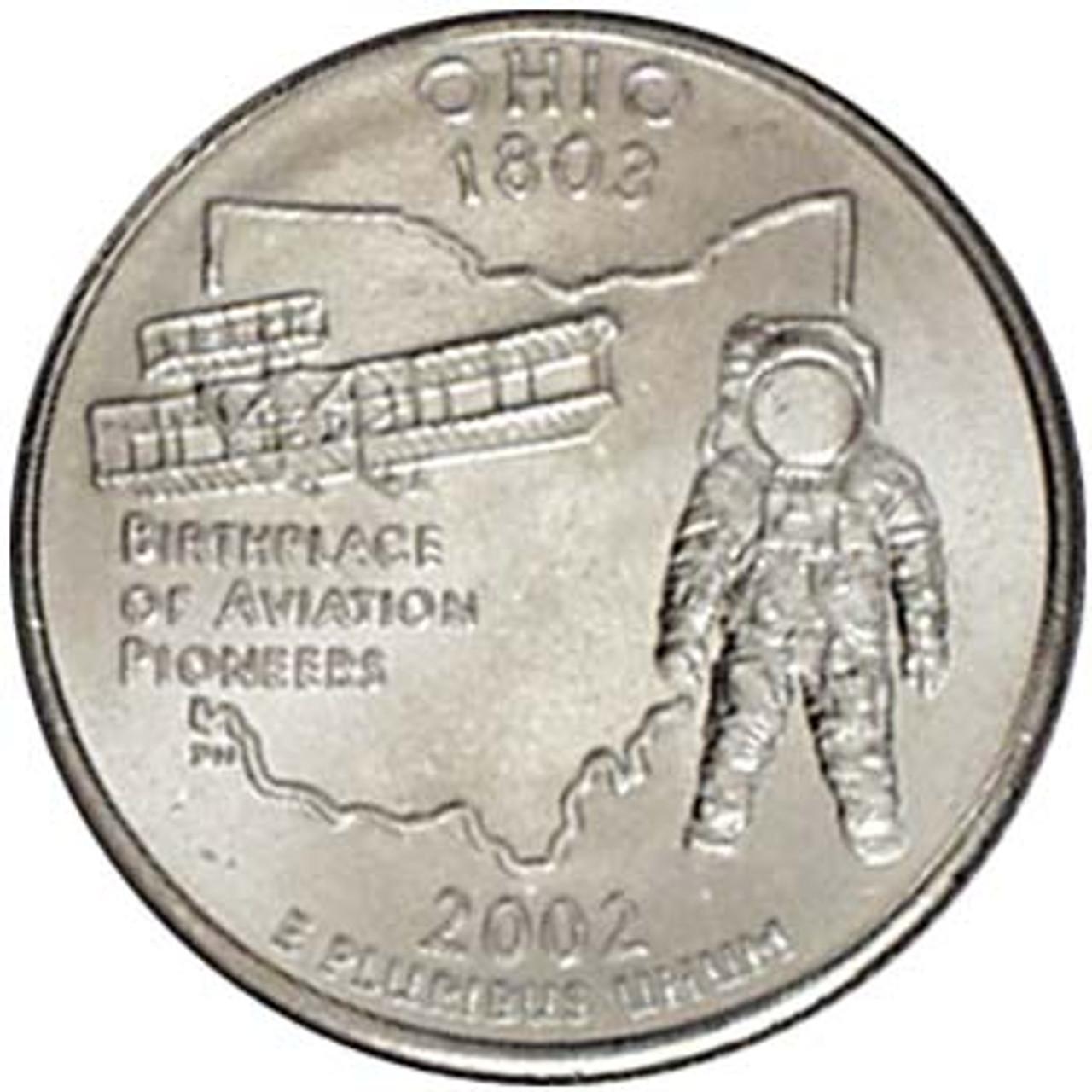 2002-P Ohio Quarter Brilliant Uncirculated Image 1