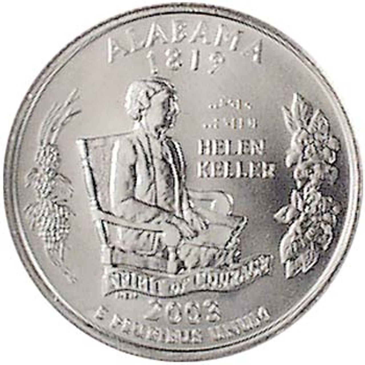 2003-D Alabama Quarter Brilliant Uncirculated Image 1