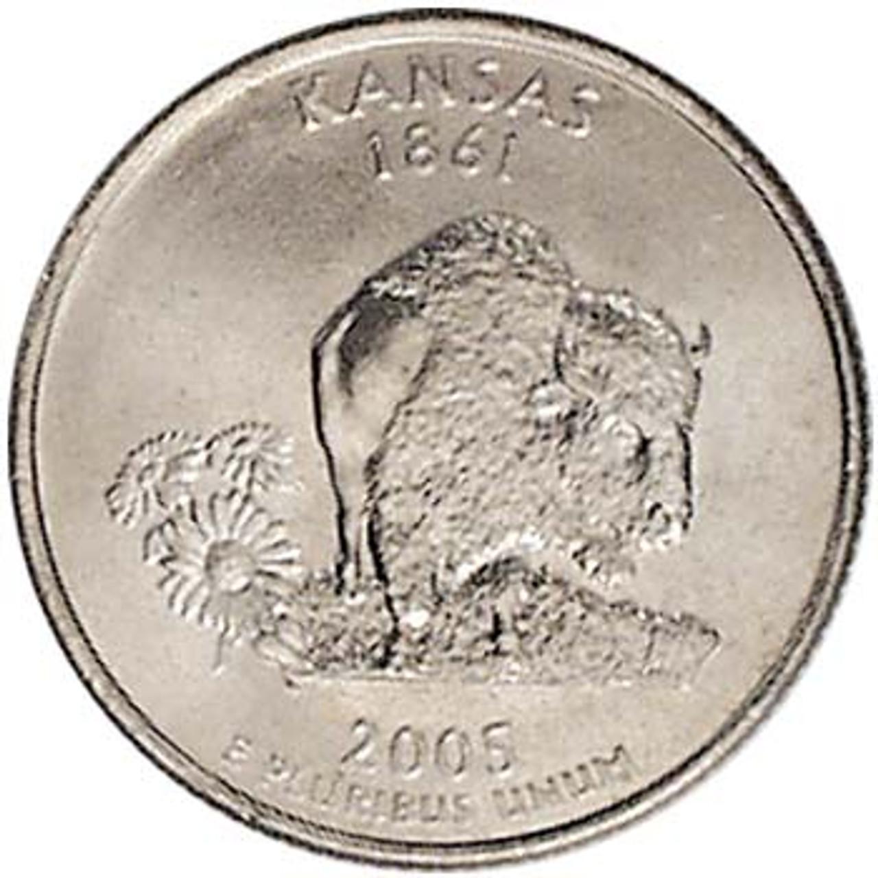 2005-D Kansas Quarter Brilliant Uncirculated Image 1