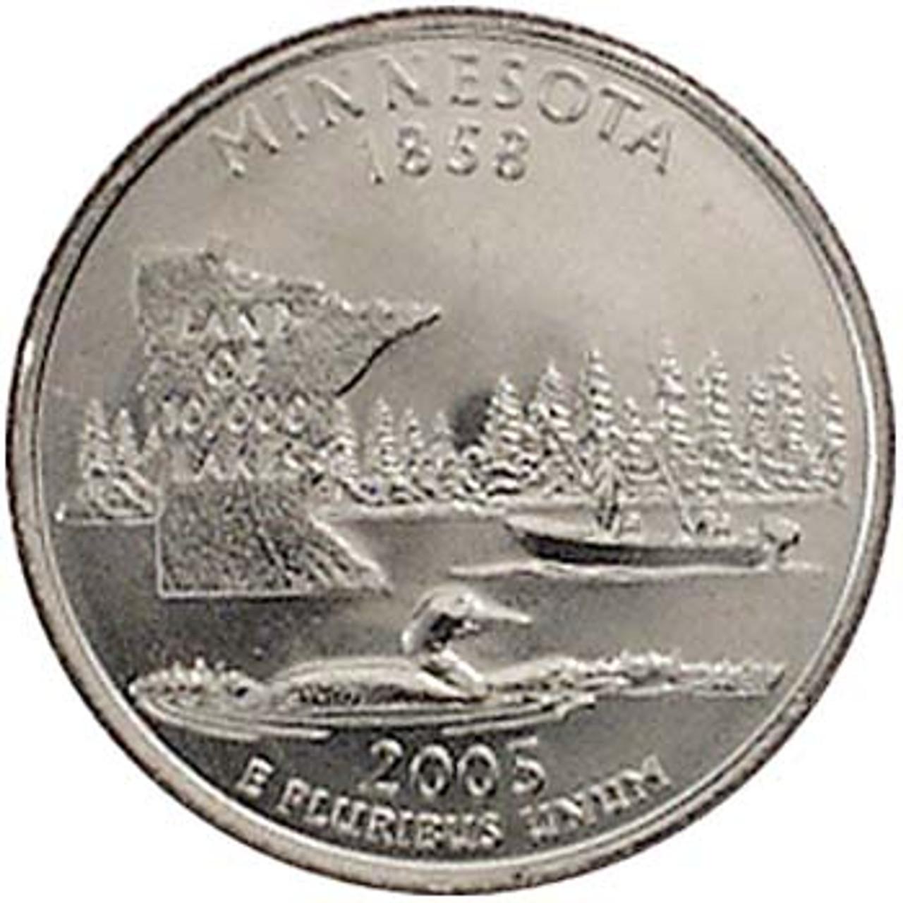 2005-P Minnesota Quarter Brilliant Uncirculated Image 1