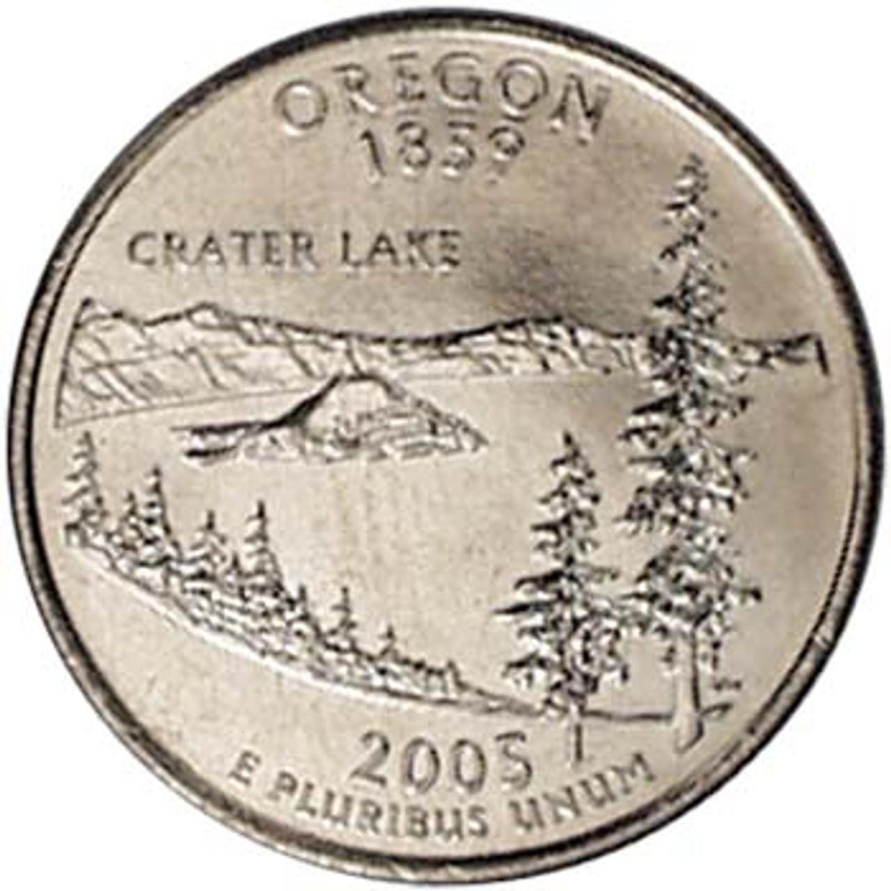 2005-D Oregon Quarter Brilliant Uncirculated Image 1