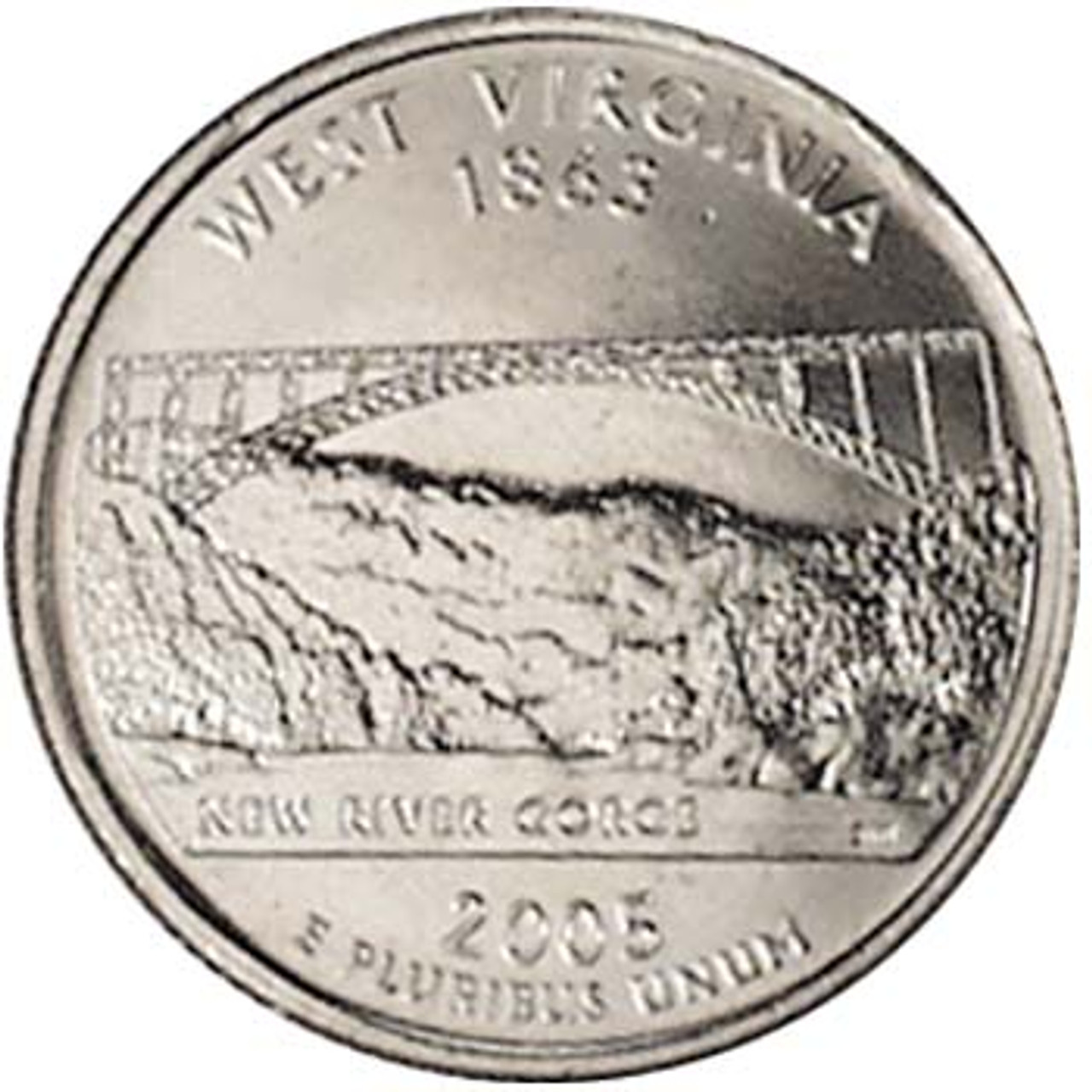 2005-P West Virginia Quarter Brilliant Uncirculated Image 1