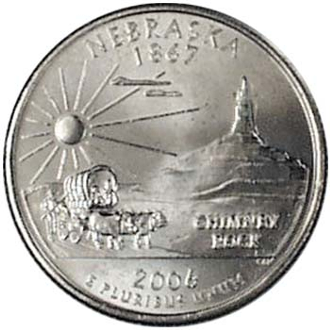 2006-D Nebraska Quarter Brilliant Uncirculated Image 1