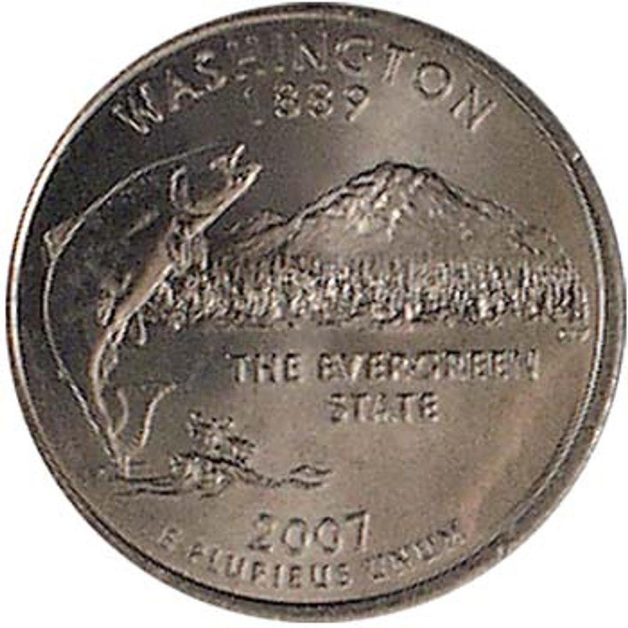 2007-P Washington Quarter Brilliant Uncirculated Image 1