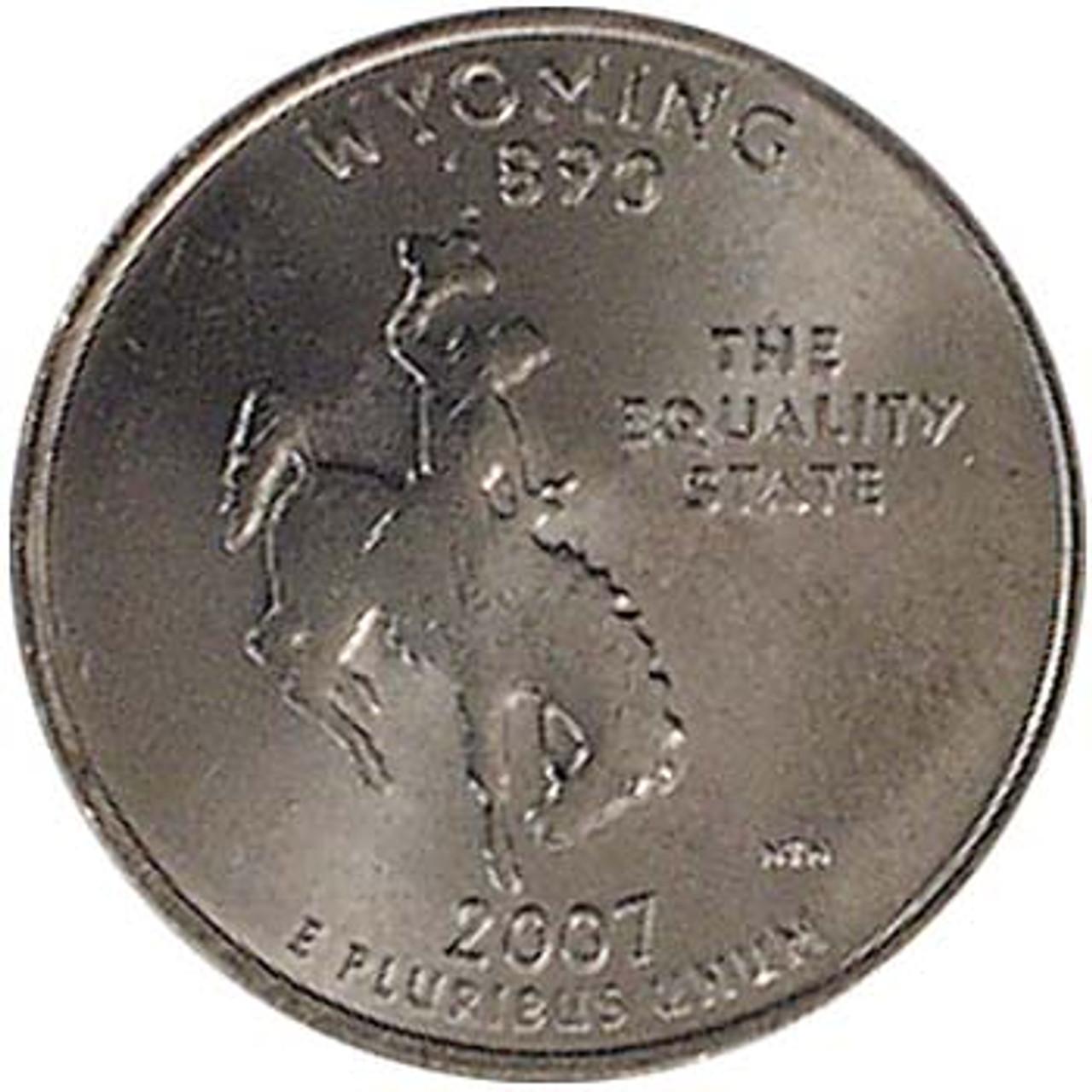 2007-P Wyoming Quarter Brilliant Uncirculated Image 1