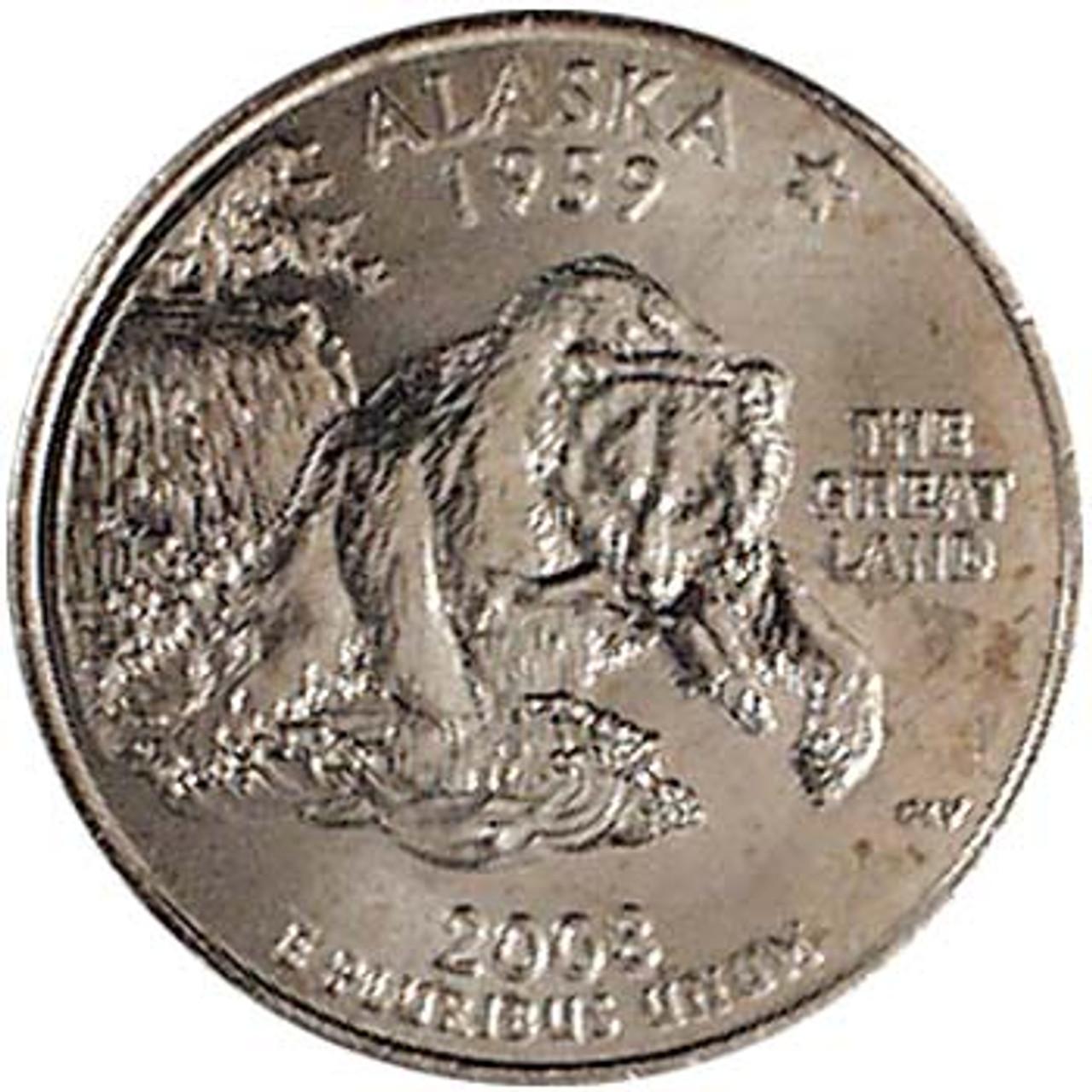 2008-P Alaska Quarter Brilliant Uncirculated Image 1
