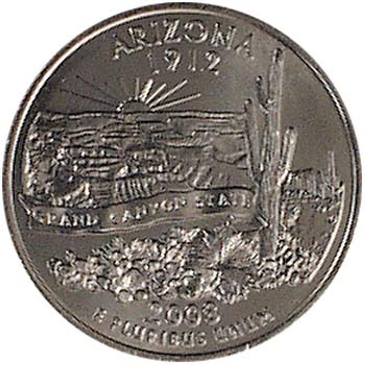 2008-D Arizona Quarter Brilliant Uncirculated Image 1
