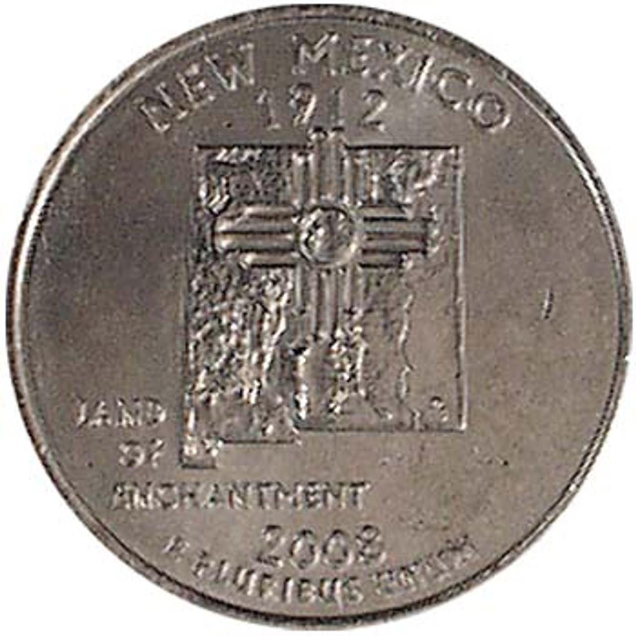 2008-P New Mexico Quarter Brilliant Uncirculated Image 1