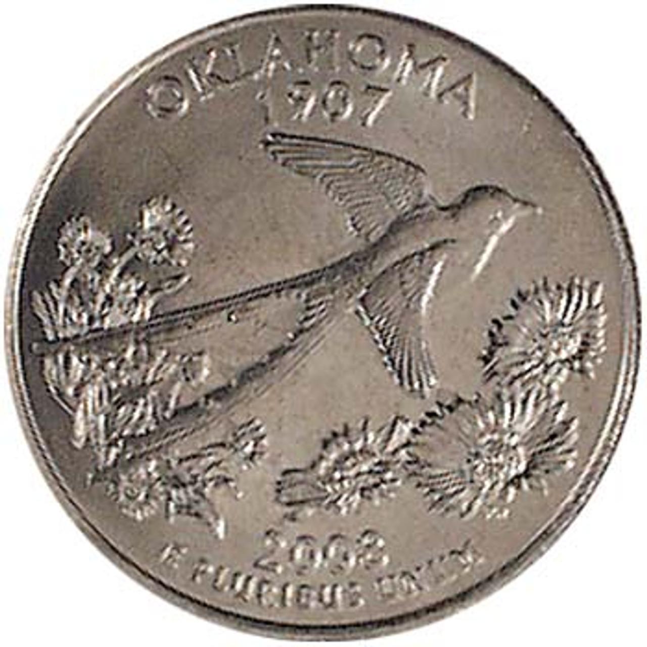 2008-D Oklahoma Quarter Brilliant Uncirculated Image 1
