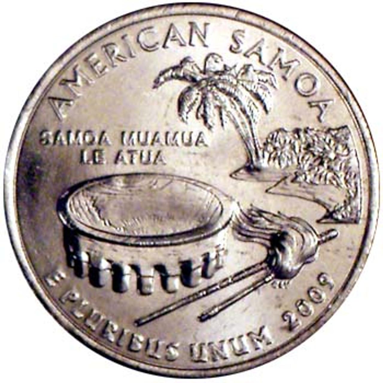 2009-P American Samoa Quarter Brilliant Uncirculated Image 1