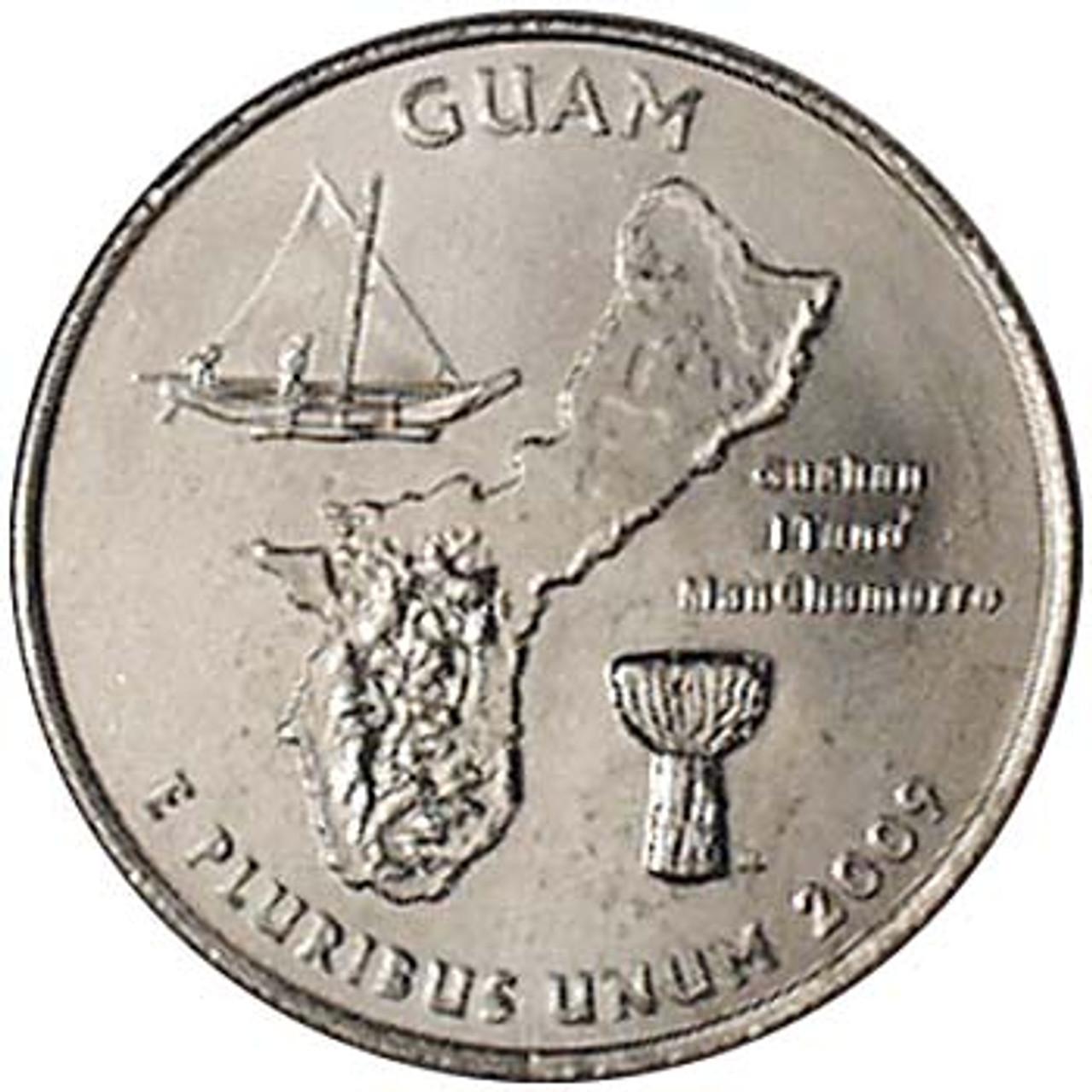 2009-P Guam Quarter Brilliant Uncirculated Image 1
