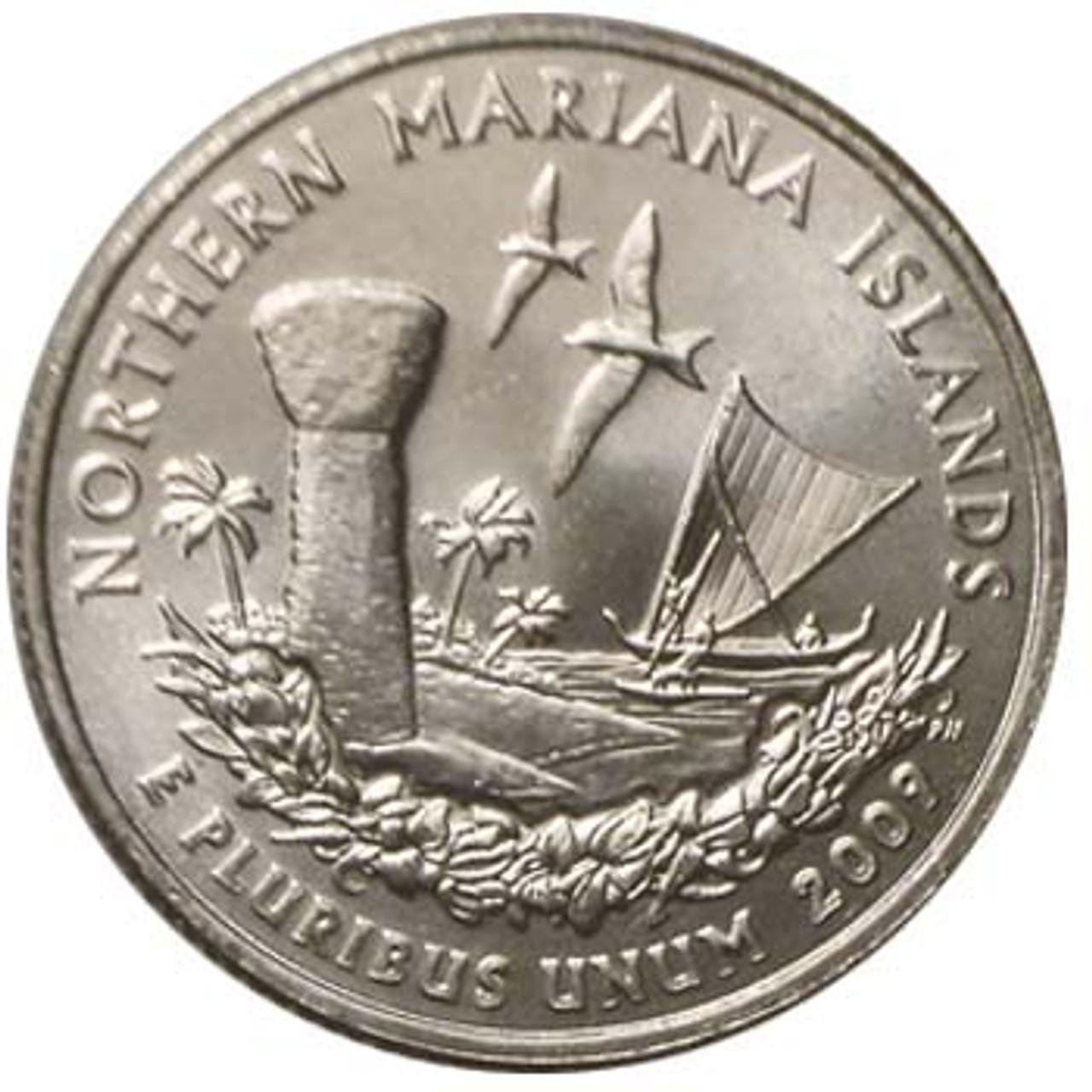 2009-P North Mariana Islands Quarter Brilliant Uncirculated Image 1