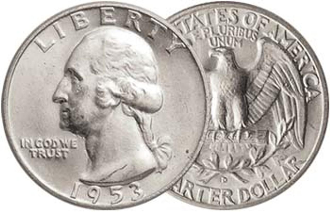 1953-D Washington Silver Quarter Brilliant Uncirculated Image 1