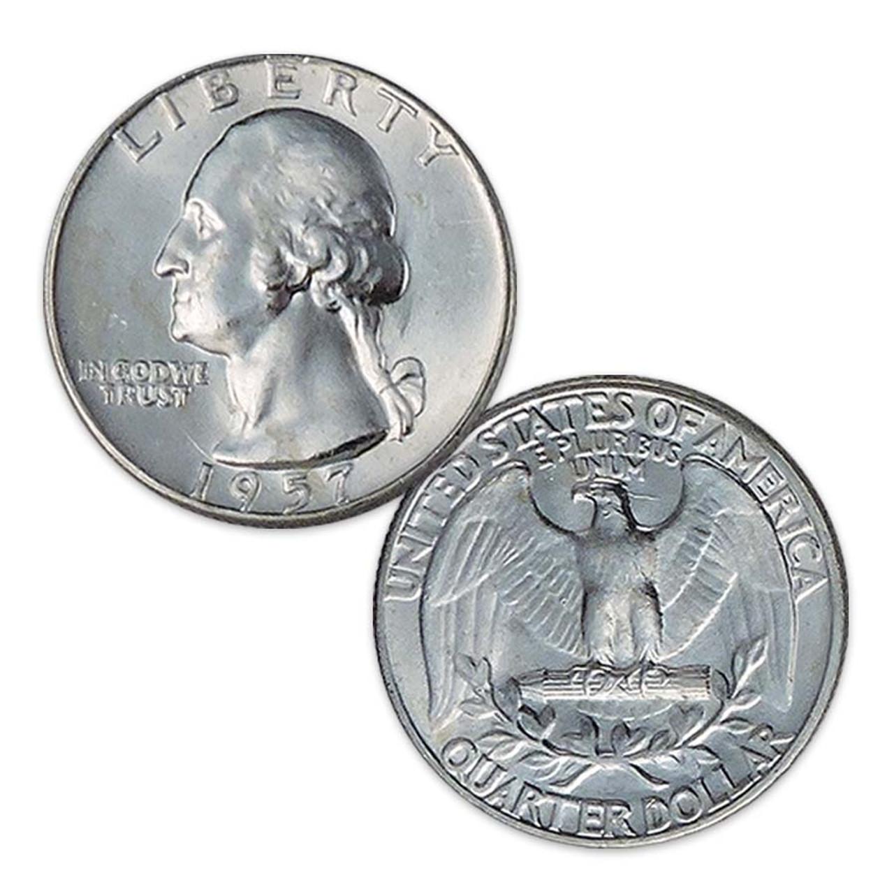 1957-P Washington Silver Quarter Brilliant Uncirculated Image 1
