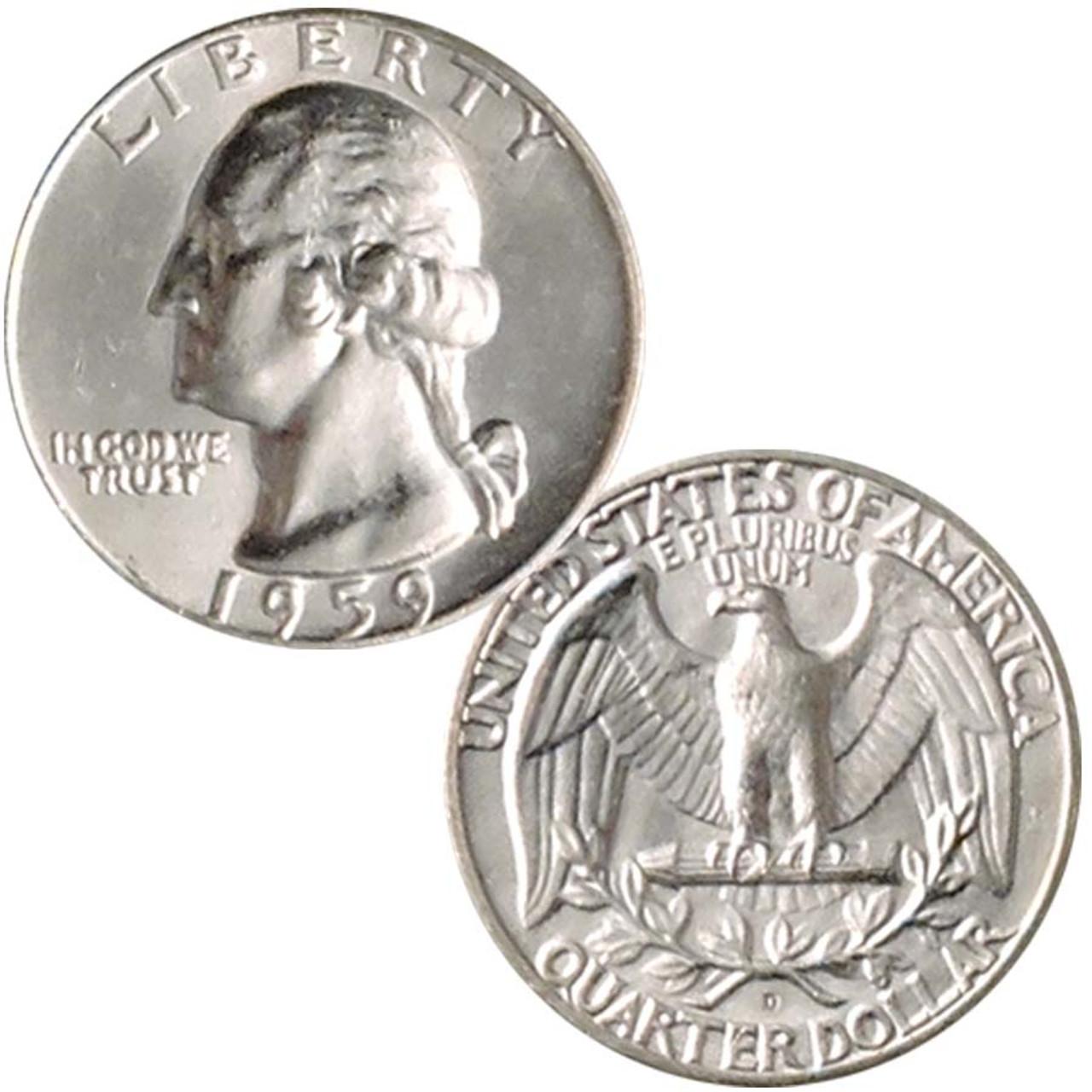 1959-D Washington Silver Quarter Brilliant Uncirculated Image 1