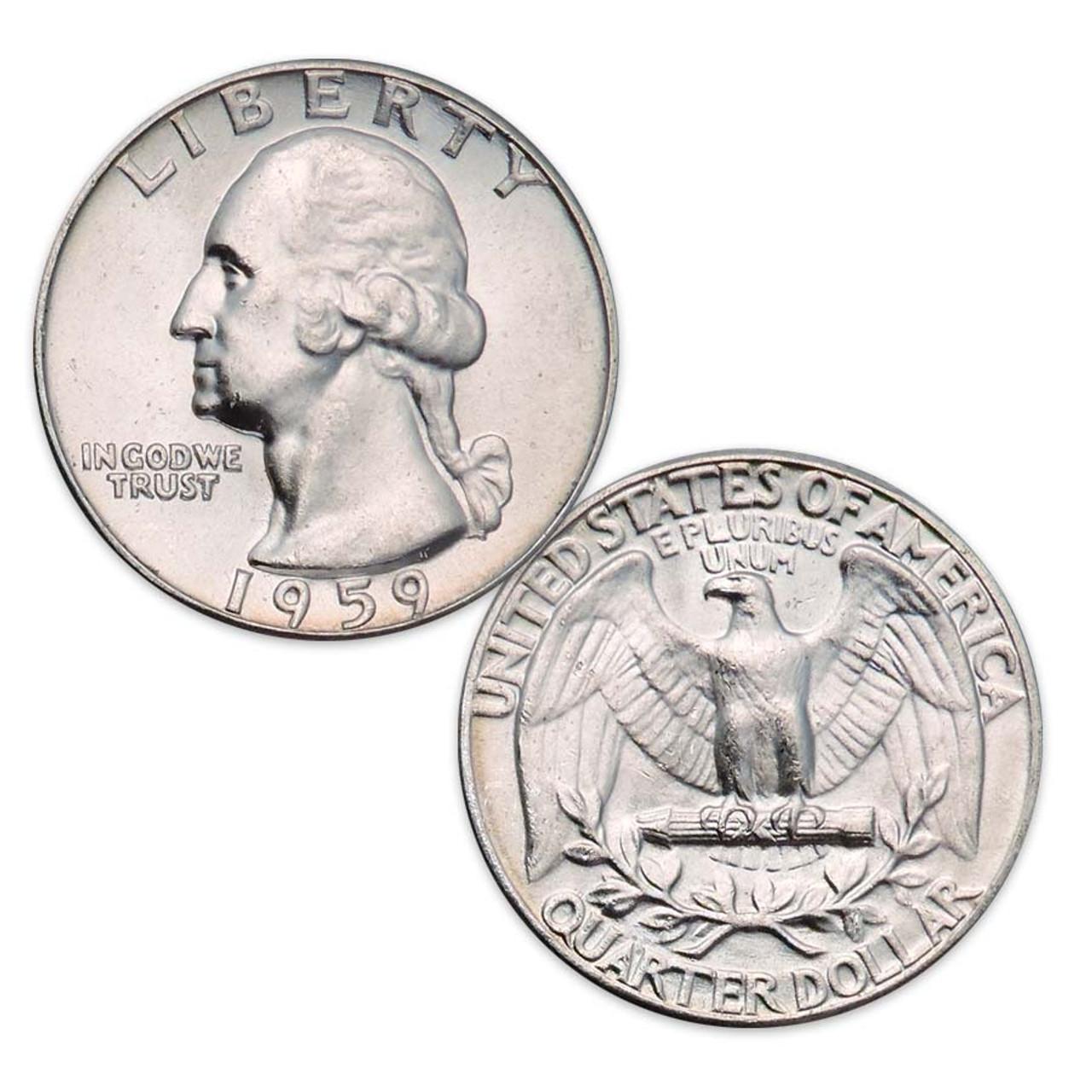 1959-P Washington Silver Quarter Brilliant Uncirculated Image 1