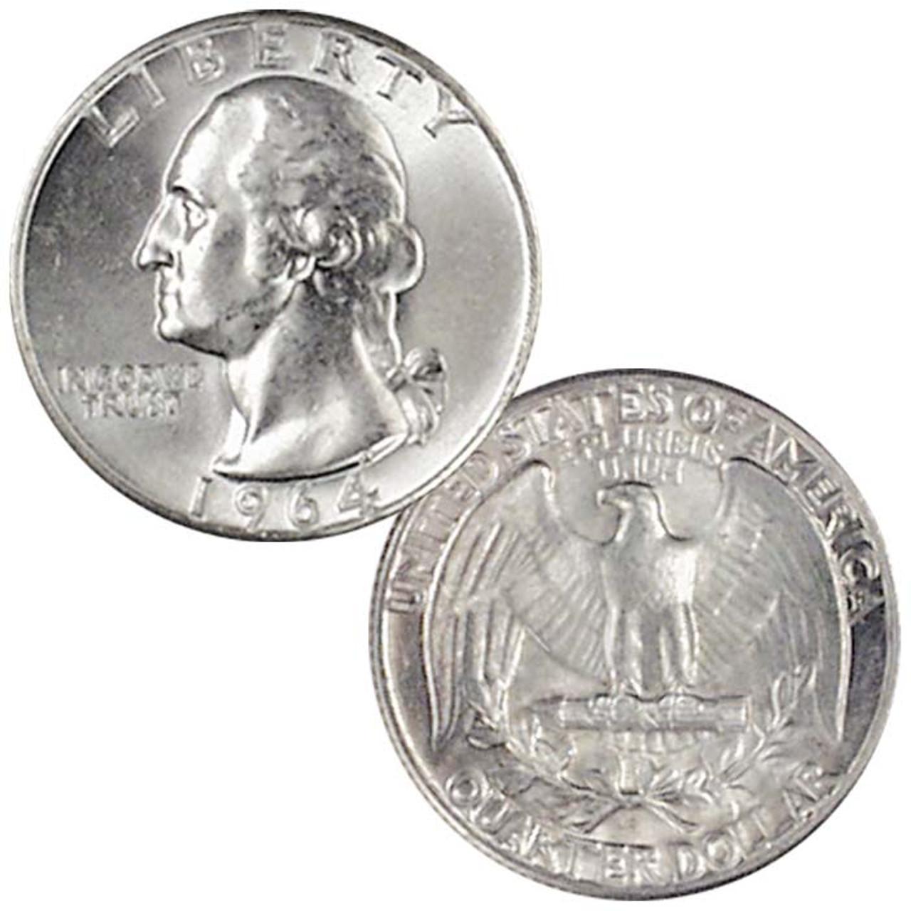 1964-P Washington Silver Quarter Brilliant Uncirculated Image 1