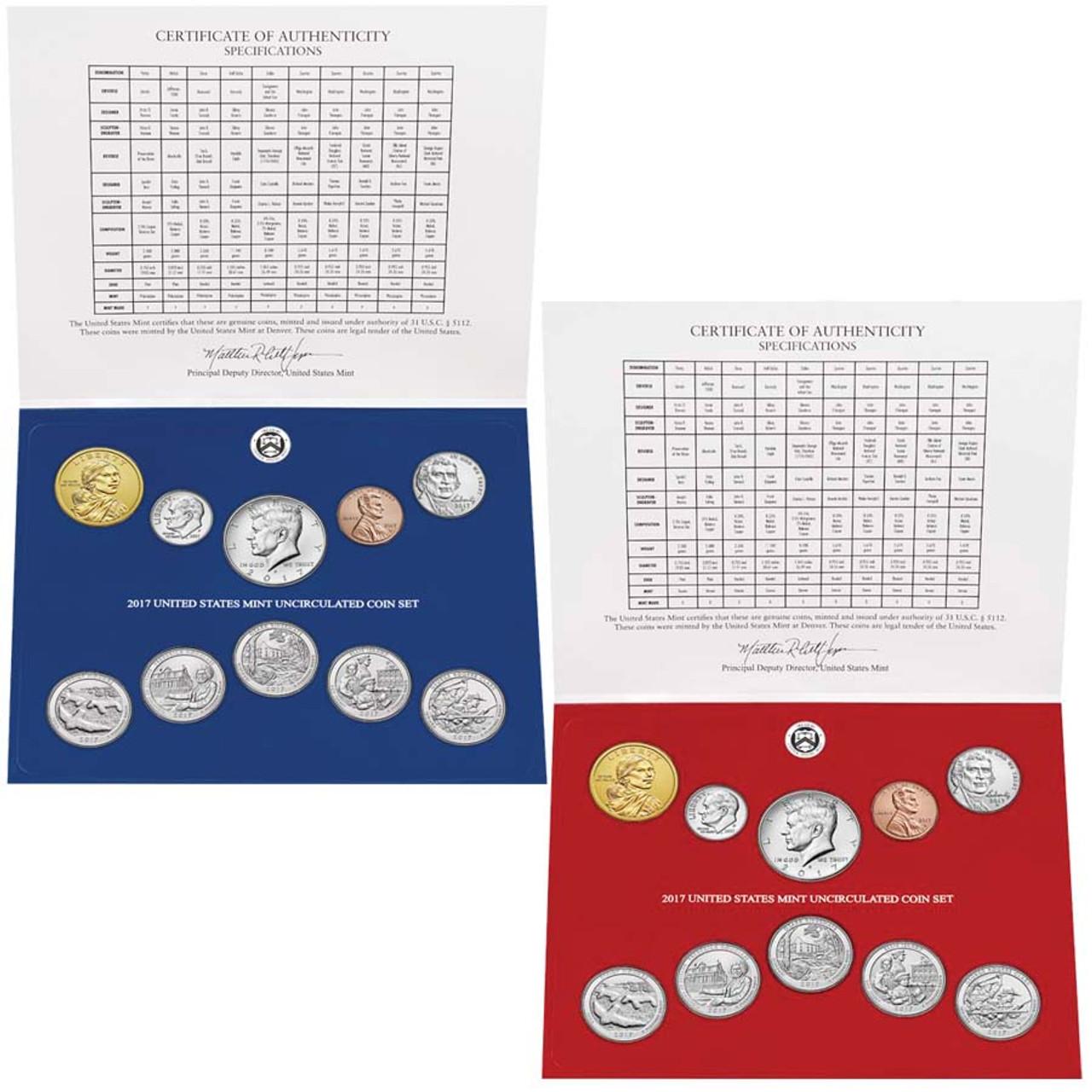 2017 Mint Set 20 Coins Image 1