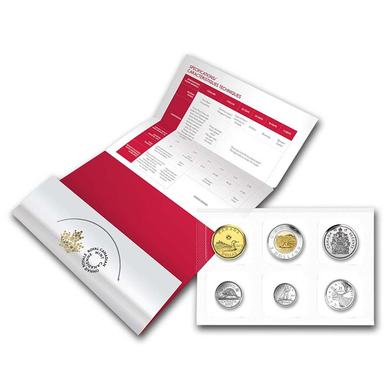 Canada 2017 Classic 6 Coin Set