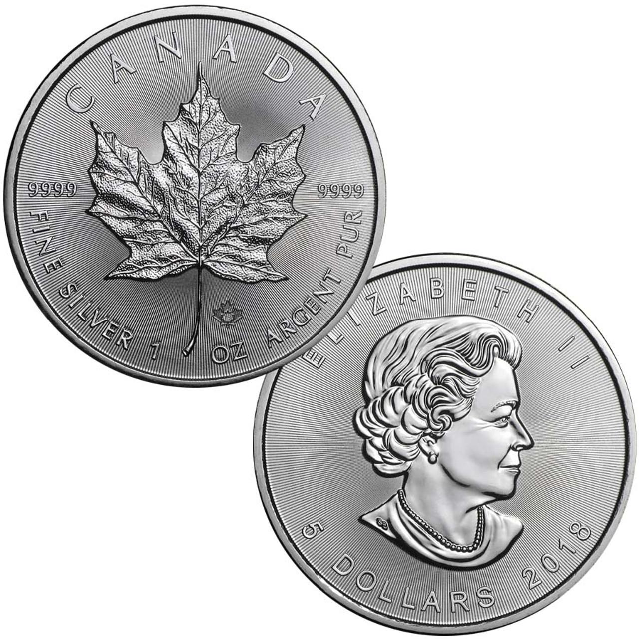 Canada 2018 Maple Leaf 1-Oz. Silver Brilliant Uncirculated