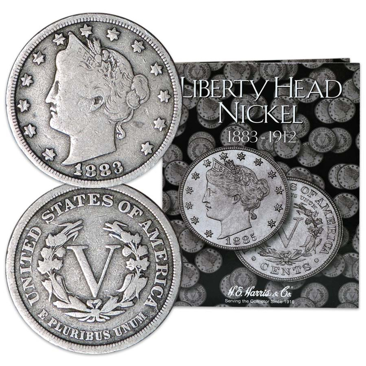 Liberty Head Nickels 10 Different in Folder Image 1
