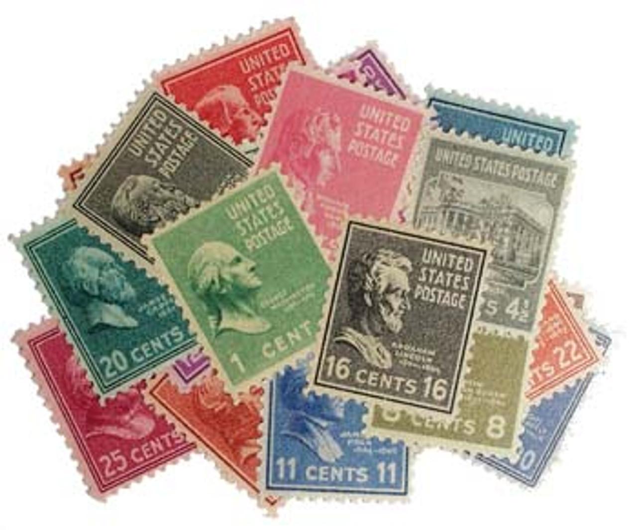 1938 Presidential Portraits 29-Stamp Set Image 1