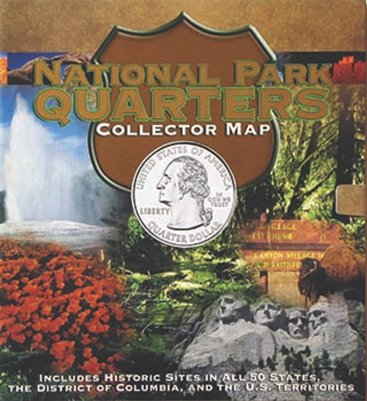 National Park Quarters Collector Map Image 1