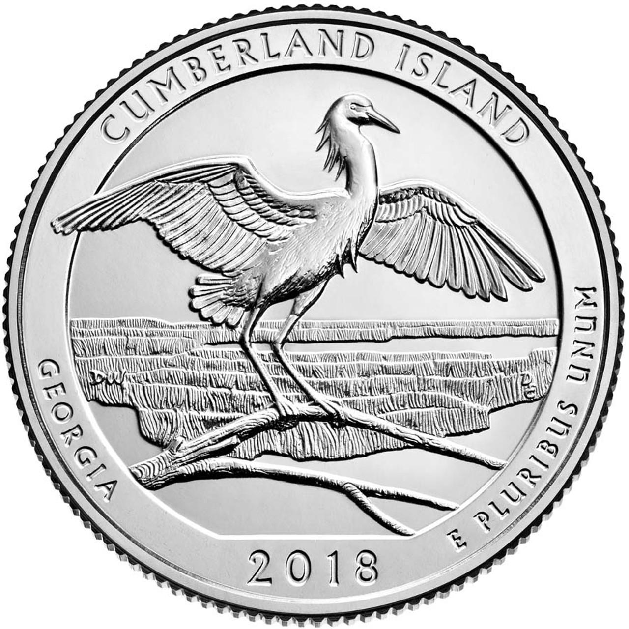 2018-D Cumberland Island National Seashore Quarter Brilliant Uncirculated Image 1