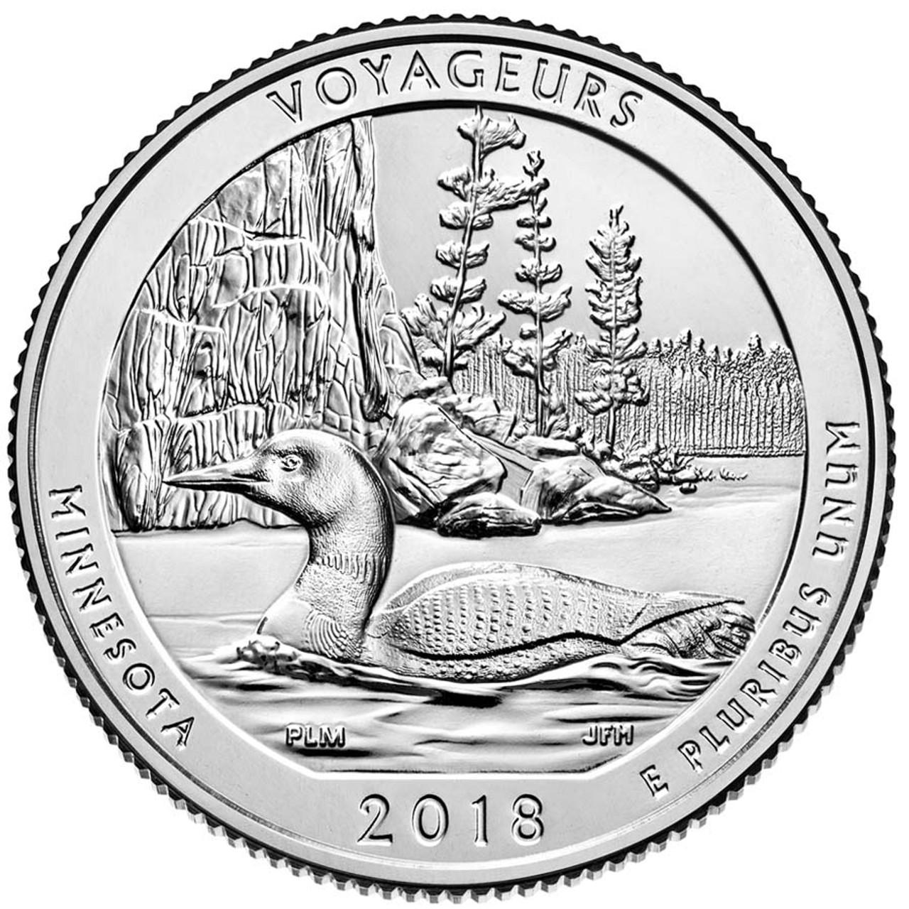 2018-D Voyageurs National Park Quarter Brilliant Uncirculated Image 1