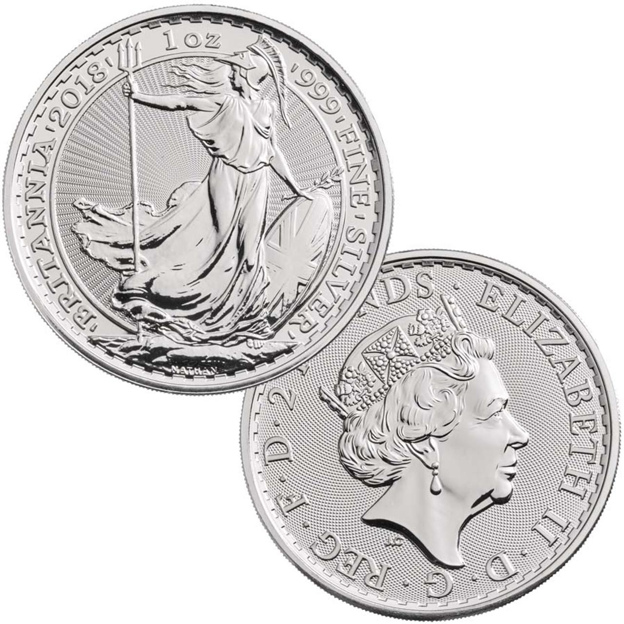 Great Britain 2018 Britannia 1 oz. Silver Brilliant Uncirculated