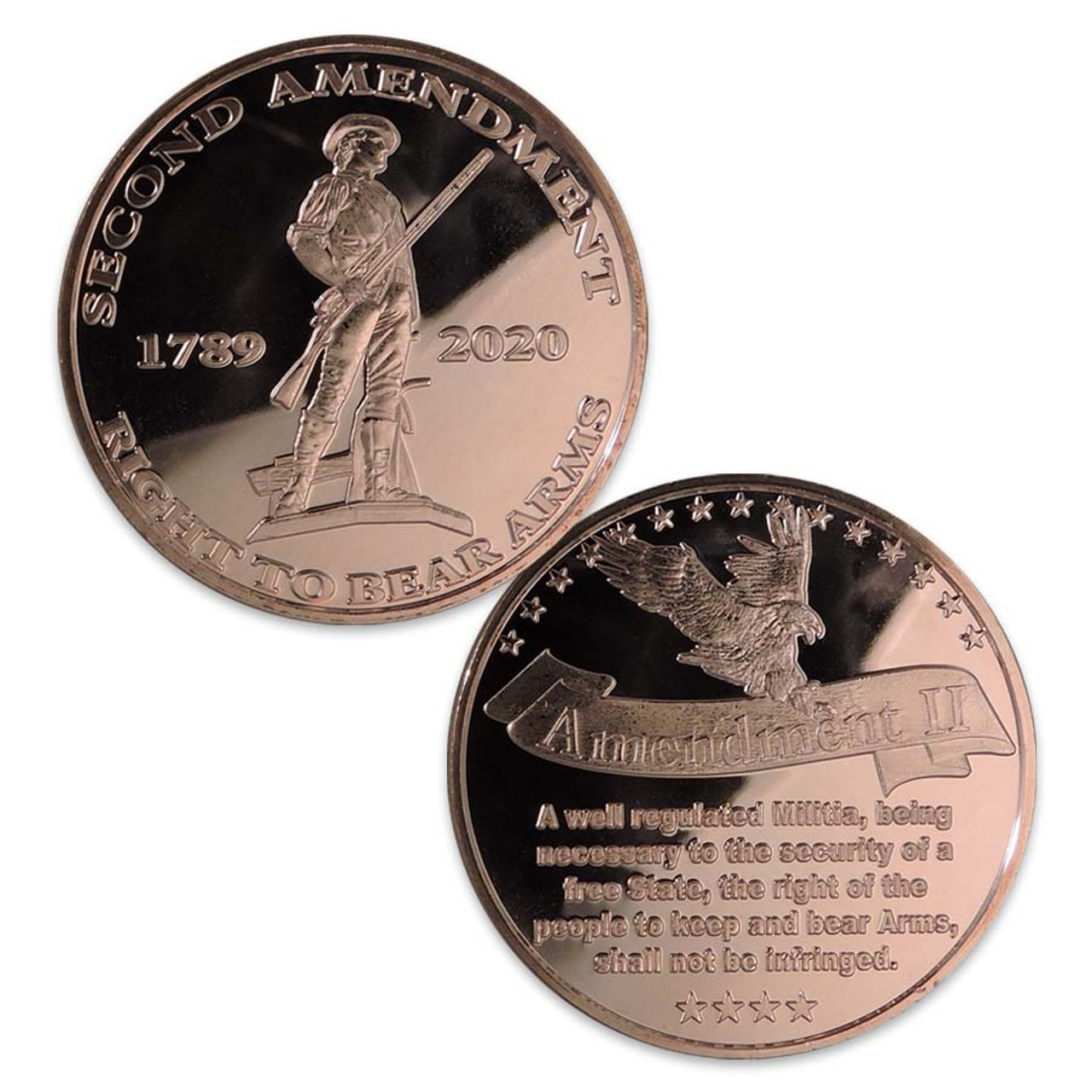 2nd Amendment 1-Oz. Copper Round