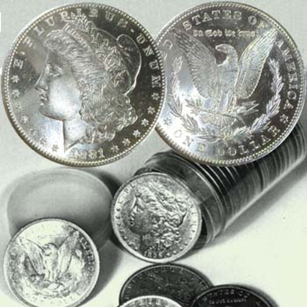1878-1921 U.S. Morgan Silver Dollars BU Proof-like Set of Three Different Dates