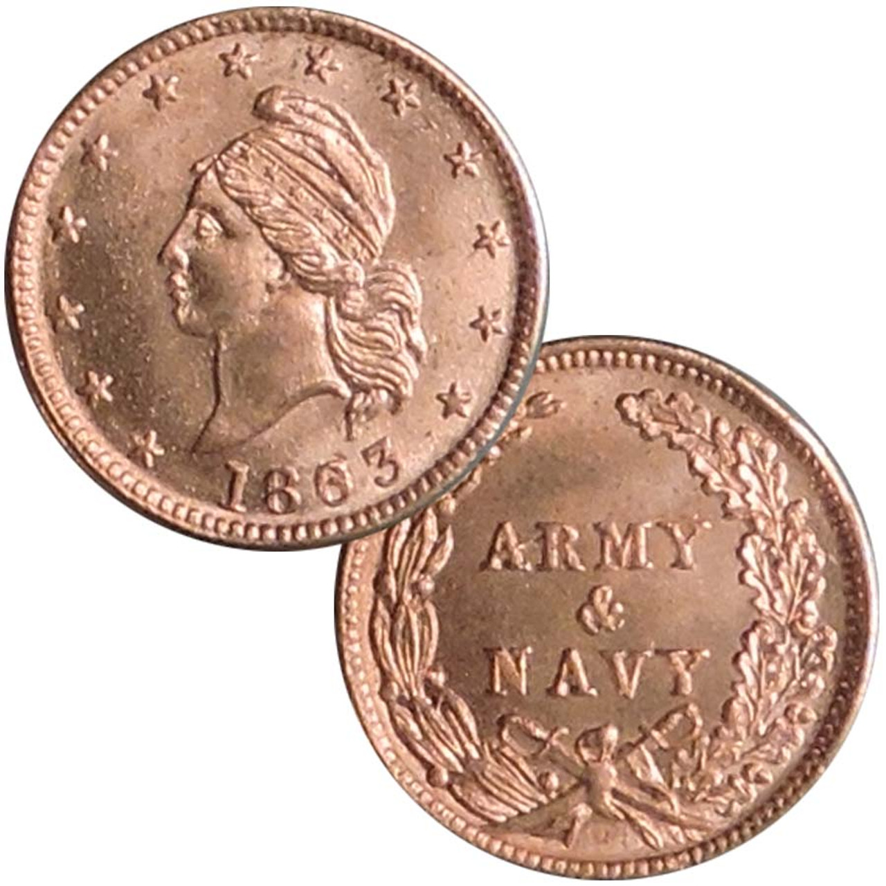 Bronze Civil War 'Army & Navy' Token