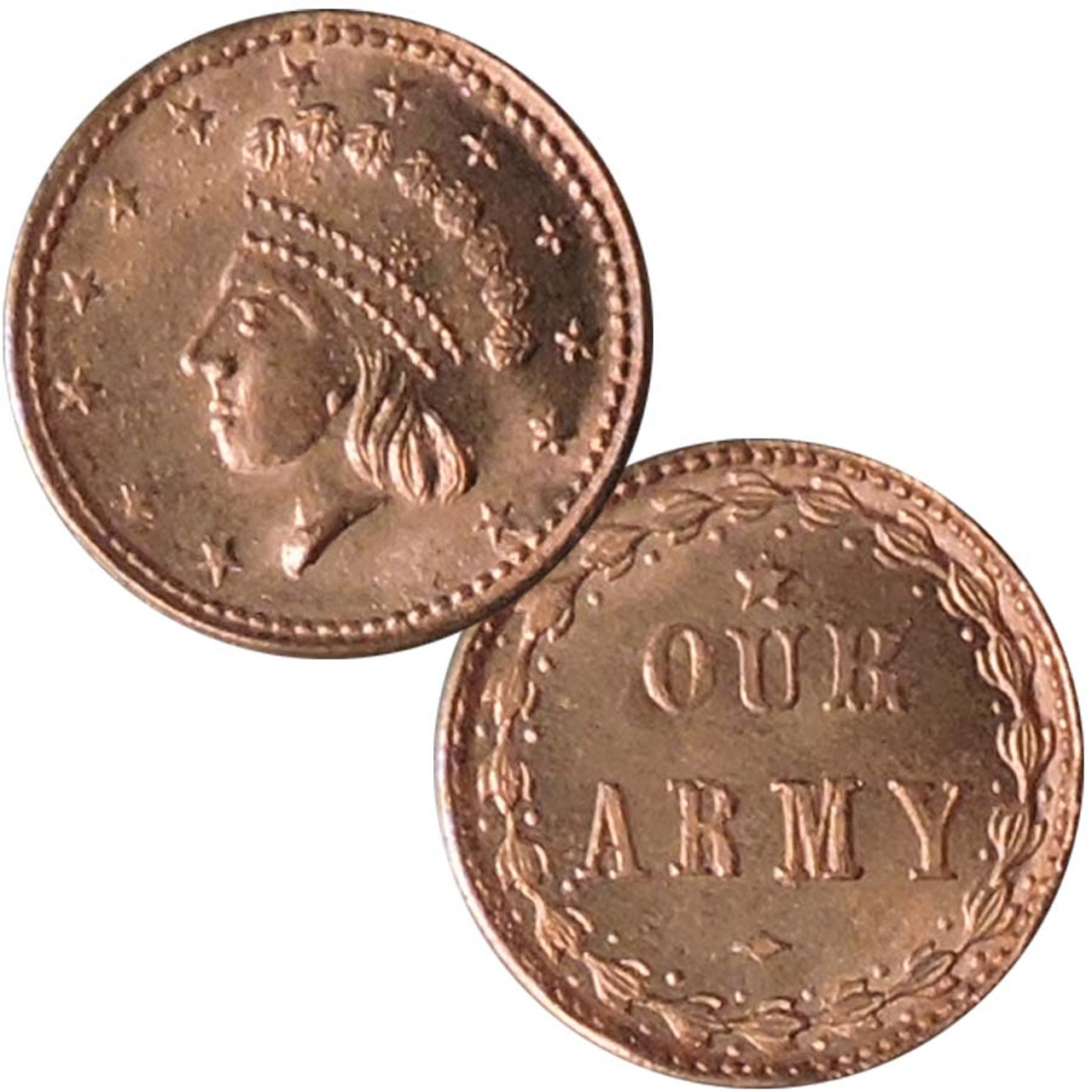 Bronze Civil War 'Our Army' Token Image 1