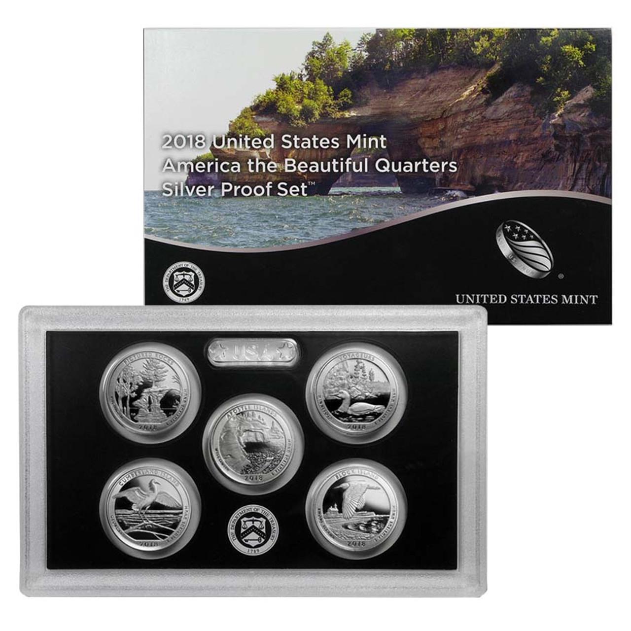 2018-S National Parks Quarter Silver Proof Set Image 1