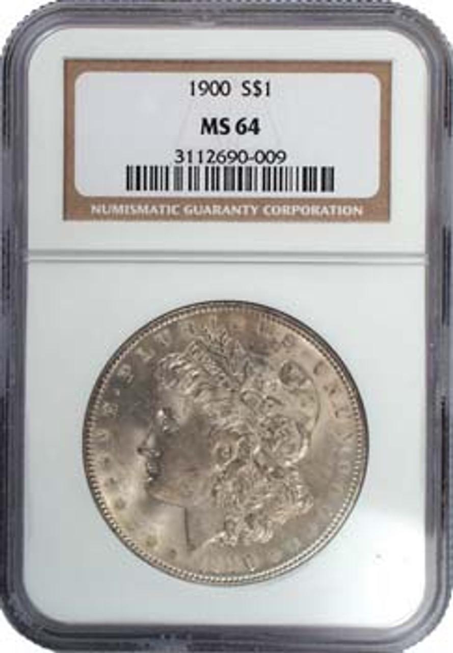 1900-P Morgan Silver Dollar Certified MS-64 Image 1