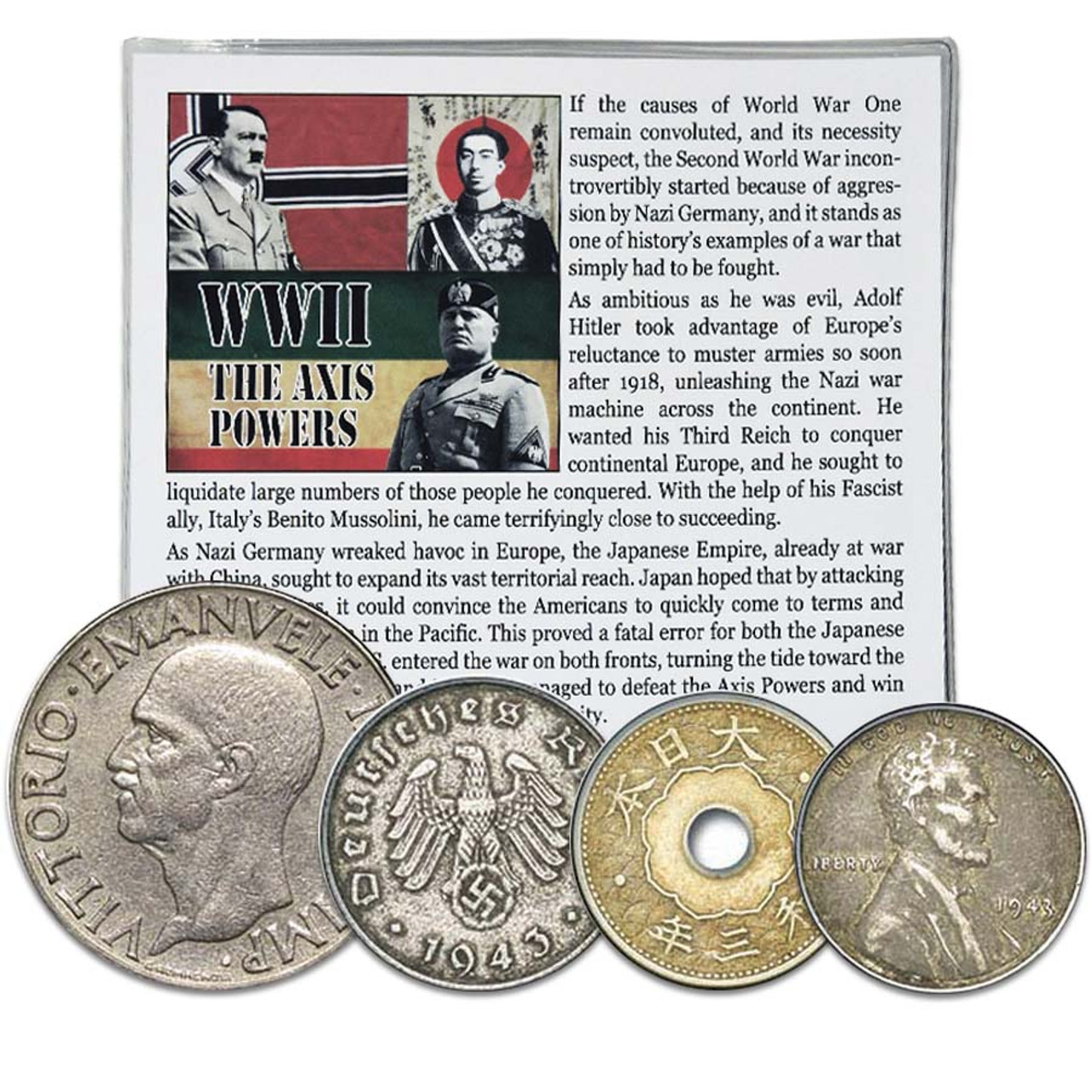 World War II: Axis Powers 4 Coin Collection Image 1