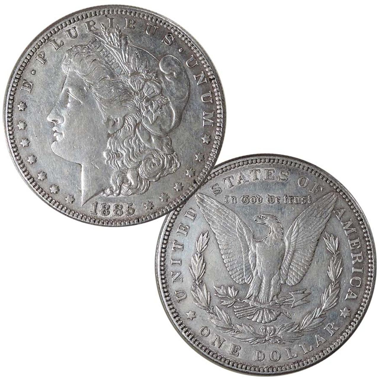 1885-P Morgan Silver Dollar Extra Fine Image 1