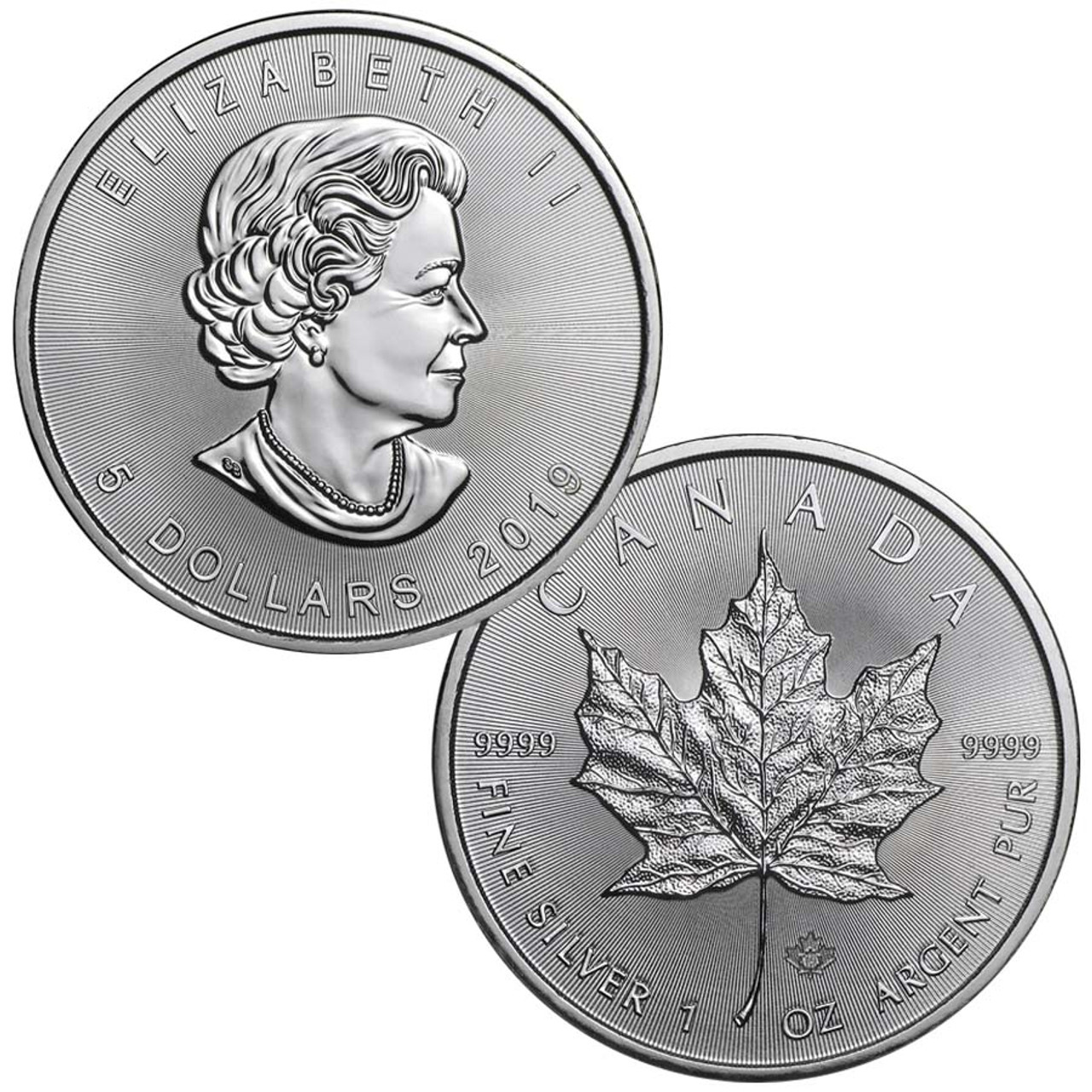 Canada 2019  Maple Leaf 1 Oz. Silver Brilliant Uncirculated