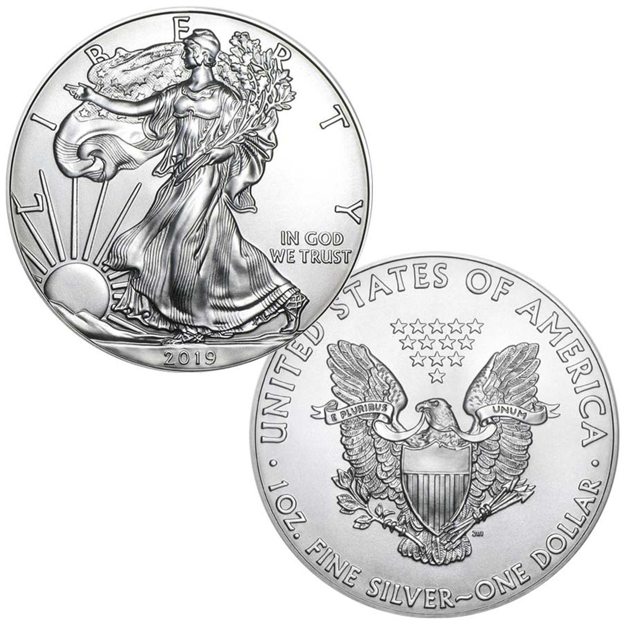 2019 Silver Eagle Brilliant Uncirculated Image 1
